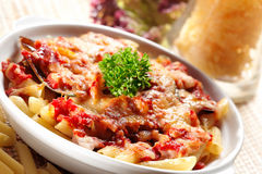 意大利面食海鲜 库存图片