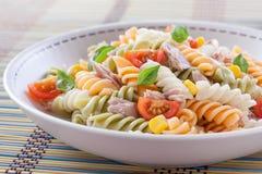 意大利面食牌照沙拉 免版税库存图片