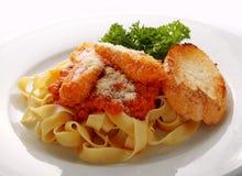 意大利面食牌照白色 免版税库存照片