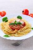 意大利面食牌照 图库摄影