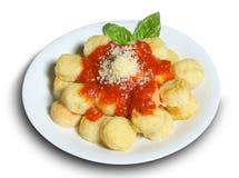 意大利面食牌照 库存照片