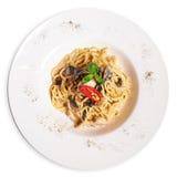意大利面食牌照 免版税库存照片
