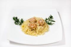 意大利面食用丸子 图库摄影