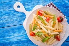意大利面食用蕃茄 库存照片
