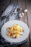 意大利面食用虾 库存图片