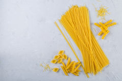 意大利面食的不同的类型 免版税图库摄影