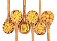 意大利面食种类 库存照片