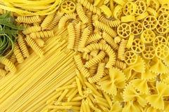 意大利面食种类 库存图片