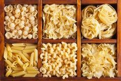 意大利面食种类 免版税库存图片