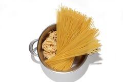 意大利面食罐 免版税库存图片