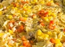 意大利面食菠萝沙拉蕃茄 免版税库存图片