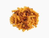 意大利面食蔬菜炖肉 免版税图库摄影