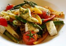 意大利面食蔬菜 免版税库存图片