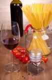 意大利面食蕃茄酒 库存图片
