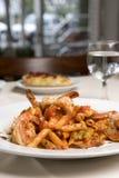 意大利面食虾 免版税图库摄影