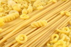 意大利面食键入多种 库存图片