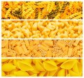 意大利面食集合多种 免版税图库摄影
