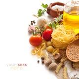 意大利面食香料蔬菜 库存图片