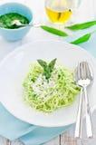 意大利面食pesto调味汁 库存图片
