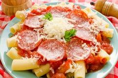 意大利面食rigatoni 库存图片