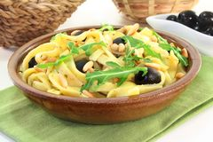意大利面食rucola 图库摄影