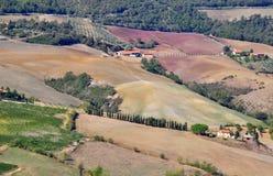 意大利风景在托斯卡纳 库存照片