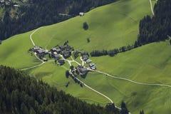 意大利风景在阿尔卑斯 库存照片