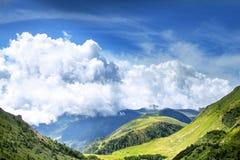 意大利风景山风景射击了在Malga加弗 库存照片
