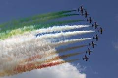意大利飞行表演 库存图片