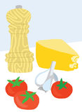 意大利食品成分 向量例证