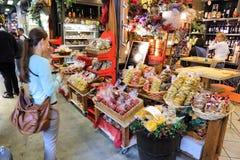 意大利食品购物 免版税库存照片