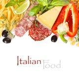 意大利食物。 免版税库存照片