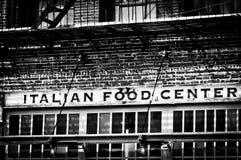意大利食物中心 库存图片