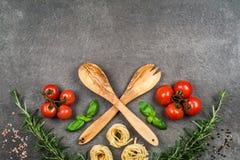 意大利食物元素 库存图片