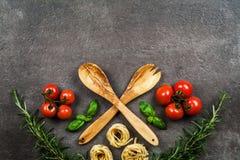 意大利食物元素 免版税图库摄影
