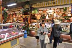 意大利食物市场 免版税库存照片