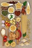 意大利食物拼贴画 库存图片