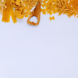 意大利食物概念和菜单设计 各种各样的种类面团 库存照片
