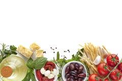 意大利食物背景 免版税库存图片