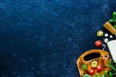 意大利食物背景 库存图片