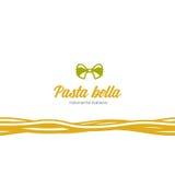 意大利食物餐馆的商标 免版税库存图片