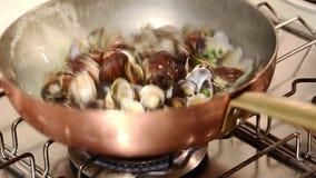 意大利食物,蛤蜊 股票视频