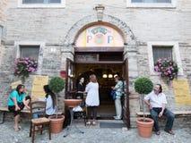意大利餐馆 免版税图库摄影