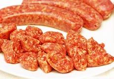意大利香肠 库存图片