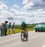意大利骑自行车者Malacarne Davide 库存图片