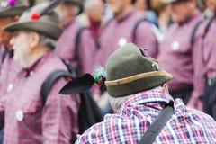 意大利高山军事游行 免版税库存照片