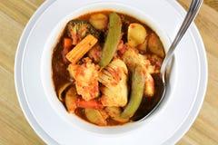 意大利鱼汤 库存图片