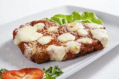 意大利鸡用巴马干酪 免版税库存照片