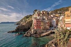 意大利,五乡地,里奥马焦雷 免版税库存照片