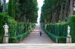 意大利,佛罗伦萨, Boboli庭院 库存图片